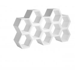 Etagère alvéoles nid d'abeilles Hexa Light, blanc