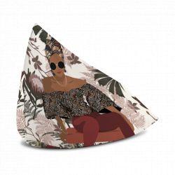 Coussin lounge avec poignée Femme africaine, 130x100cm, collection Terra nova, Pôdevache