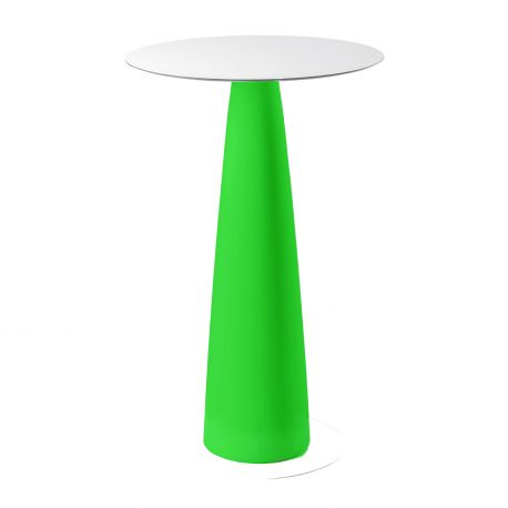 Mange-debout rond Hoplà, Slide design vert D79xH110 cm