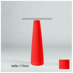 Mange-debout carré Hoplà, Slide rouge 69x69xH110 cm