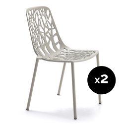 Lot de 2 chaises design Forest, Fast gris poudré