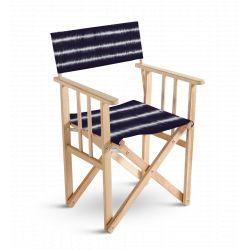 Chaise metteur en scène Tie and Dye Bleu, collection Ride or Dye, Pôdevache