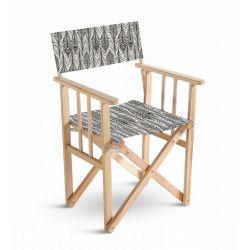 Chaise metteur en scène Motif plumes, collection Sous influence, Pôdevache