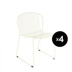 Lot de 4 chaises Bolonia, Isimar, beige crème