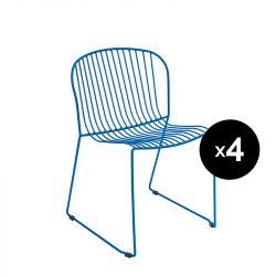 Lot de 4 chaises Bolonia, Isimar, bleu ultramarine