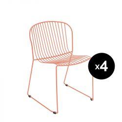 Lot de 4 chaises Bolonia, Isimar, rose pâle