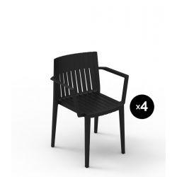 Lot de 4 chaises Spritz, Vondom noir Avec accoudoirs