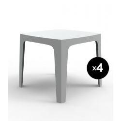 Lot de 4 tables Solid, Vondom blanc