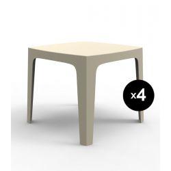 Lot de 4 tables Solid, Vondom ecru