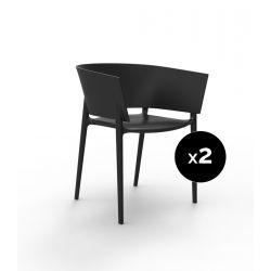 Set de 2 fauteuils Africa, Vondom noir