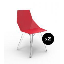 Lot de 2 chaises Faz, Vondom rouge