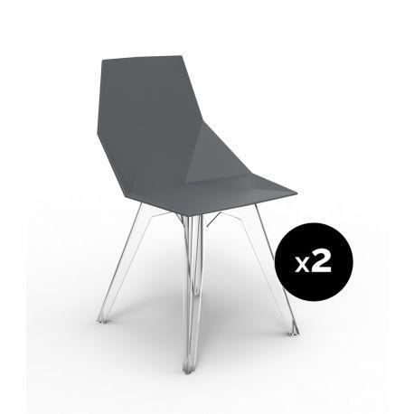 Lot de 2 chaises Faz, Vondom noir