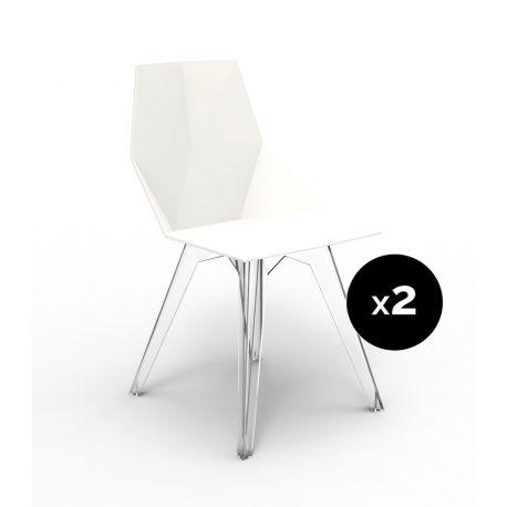 Lot de 2 chaises Faz, Vondom blanc
