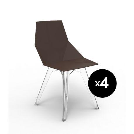 Lot de 4 chaises Faz, Vondom bronze