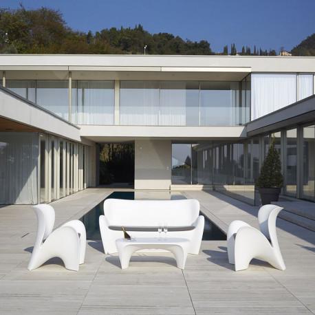 Salon de jardin Lily, Myyour couleur blanc avec coussins