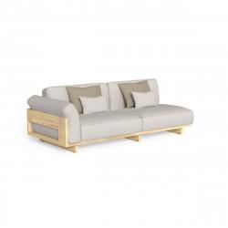 Canapé modulaire angle à droite Argo, Talenti bois clair & beige
