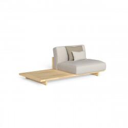 Divan modulaire droit + table Argo, Talenti bois clair & beige