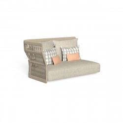 Canapé modulaire angle droit, dossier en corde Cliff, Talenti beige