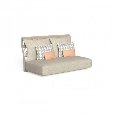 Canapé modulaire central, dossier en corde Cliff, Talenti beige