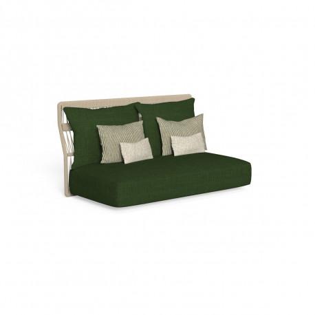 Canapé modulaire central, dossier en corde Cliff, Talenti gris