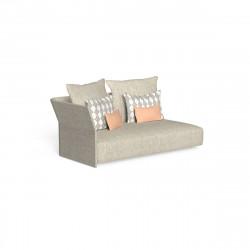 Canapé modulaire angle droit, dossier en tissu Cliff, Talenti beige