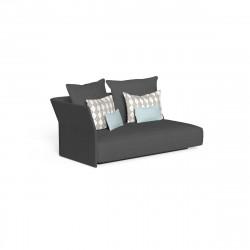 Canapé modulaire angle droit, dossier en tissu Cliff, Talenti gris