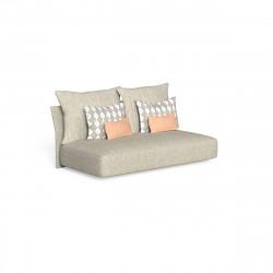 Canapé modulaire central, dossier en tissu Cliff, Talenti beige