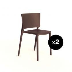Set de 2 chaises Africa, Vondom bronze