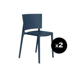 Set de 2 chaises Africa, Vondom navy