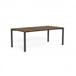 Table à manger Casilda, Talenti graphite 200 x 100 cm