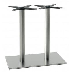 Pied de table Inox 4460, finition acier brossé, Pedrali