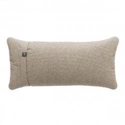 Coussin Pillow 60 x 30 cm outdoor, pour canapé Vetsak, tissu d'extérieur tricoté gris 'stone'