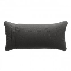 Coussin Pillow 60 x 30 cm outdoor, pour canapé Vetsak, tissu d'extérieur tricoté gris foncé