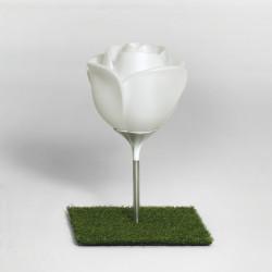 Lampe d'extérieur en forme de rose, Baby Love Garden, Hauteur 70cm, MyYour, éclairage blanc ampoule