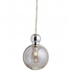 Suspension Uva, Ebb&Flow, gris fumé, diamètre 7 cm, câble transparent, boule en laiton argenté