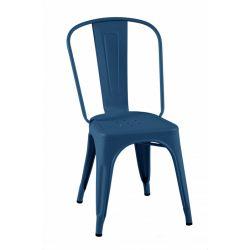 Lot de 2 chaises A Brillant, Tolix bleu océan
