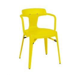 Chaise T14 Inox Brillant, Tolix citron