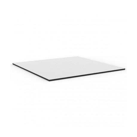 Plateau de table carré Mari-Sol ,Vondom blanc,bordure noir 59x59 cm