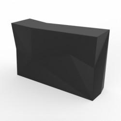 Banque d'accueil Origami, élément droit, Proselec noir Laqué