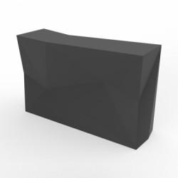 Banque d'accueil Origami, élément droit, Proselec anthracite Laqué