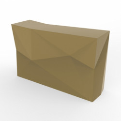 Banque d'accueil Origami, élément droit, Proselec champagne Laqué