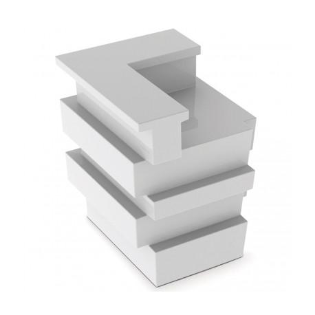 Banque d'accueil Ride, élément d'angle, Proselec blanc