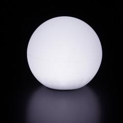Lampe d'extérieur Globo Out , Slide Design blanc Diamètre 60 cm