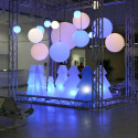 Lampe Globo Hanging Out, Slide Design blanc Diamètre 200 cm