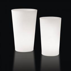 Grand X-pot lumineux, Slide Design blanc Hauteur 107 cm