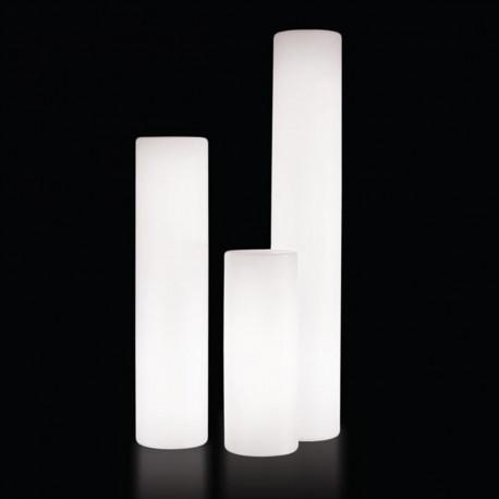 Colonne lumineuse Fluo In, Slide Design blanc, Hauteur 130 cm