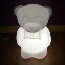 Lampe Junior Ourson à poser, Slide Design blanc