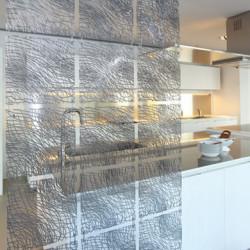 20 carrés séparations design Silk, Koziol gris anthracite transparent