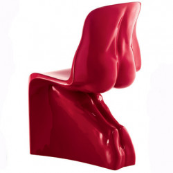 Chaise HIM Casamania rouge laqué