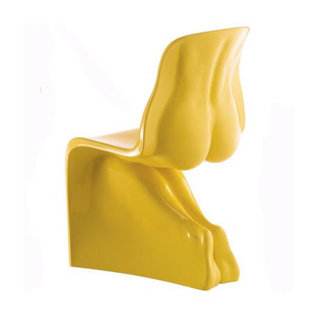 Chaise HIM Casamania jaune laqué